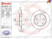 BREMBO Диск тормозной 08.A912.10 (2шт/уп) RR 08A91210